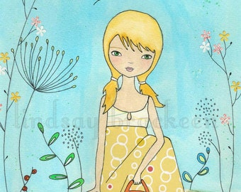 Garden Flower Kids Girl Art Print