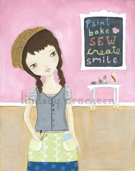 Crafty Girl Sew Bake Paint Create Print