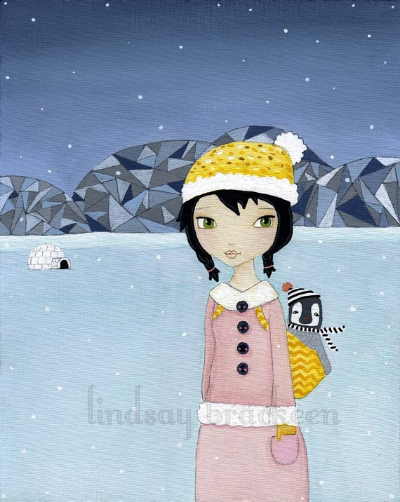 Counting Snowflakes Print