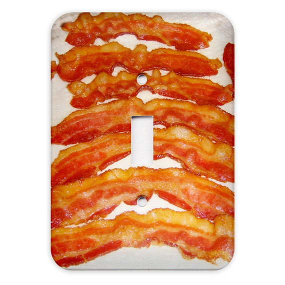 Bacon Light Switch Plate Cover