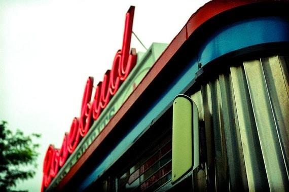 Rose Bud Diner, Davis Square, 5x7 fine art photo