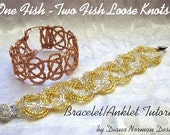 One Fish Two Fish Loose Knots Bracelet or Anklet Tutorial
