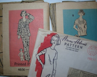 2 vintage 1970s Anne Adams mail order patterns