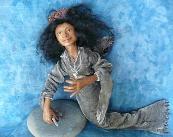 Selkie, art doll