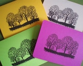 Fall Trees All Occasions Notecards-Set of 4-BUY 4 CARDS\/TAGS and GET 5th CARD\/TAG FREE