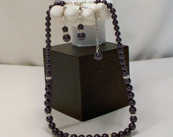 Swarovski Dark Purple PearlSet