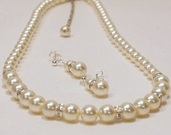 Swarovski Cream Pearl Set