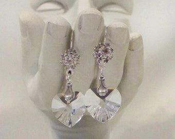 Be Still My Crystal Heart Earrings