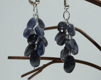 Blue Adventurine Cluster Earrings