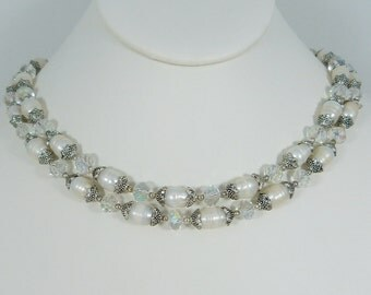 Reanissance Double Strand Pearl Choker