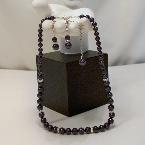 Swarovski Dark Purple PearlSet