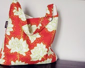 lime flowers tote