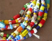 "Vintage African Trade Beads AKA Christmas Beads tiny glass seed beads 33"" strand size 11-0"