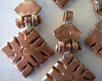 Petite Ethiopian Coptic Cross Pendant Hinged Copper lot of 1 fancy OLD STOCK 25mm (1 inch)