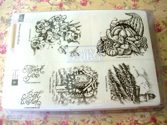 Stampin Up 2005 Always on My Mind rubber stamps set Unused in original case
