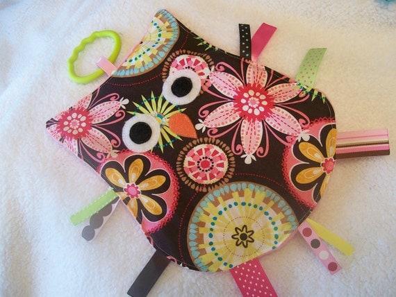 Carnival Bloom CRINKLE CRACKLE Sensory Owl Toy
