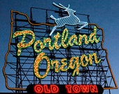 Portland Oregon Sign Fine Art Print