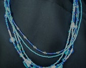Colors of the Sea Five Strand Necklace