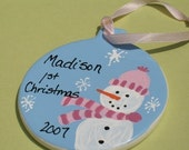 Snowboy or Snowgirl Personalized Ornament - RESERVED FOR WILLOWARTIST