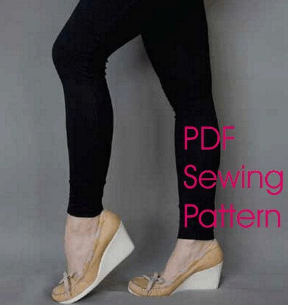 downloadable sewing pattern basic leggings, pdf