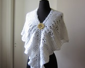 White Frost Lace Scarf, wool blend