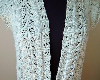 Bolero Vest aqua cotton