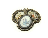 Sweet Little Flighty Creatures - Handmade Brass and Resin Pendants