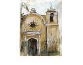 Giclee print on cotton fabric -  mission