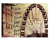 Giclee print on cotton fabric -  Ferris Wheel