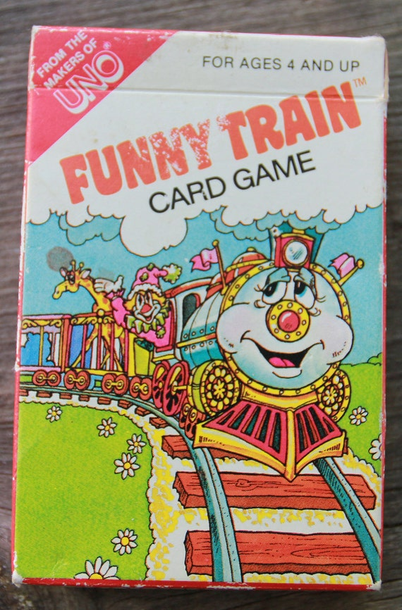 Vintage 1983 Funny Train Card Game from the makers of Uno.