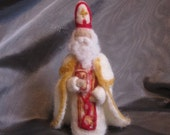 Classic Saint Nicholas Waldorf needle felted doll