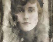 Instant Download Vintage Sabine Black Headband French Woman Digital Download Digital Paper Commercial Use Graphics