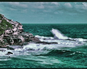 Instant Download Vintage Australian Seascape Digital Download Photograph Color Photograph Commercial Use