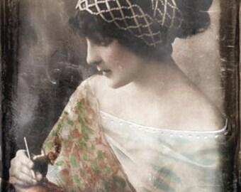 Instant Download Vintage Gypsy Woman Instant Digital Download Commercial Use Digital Graphics Digital Paper