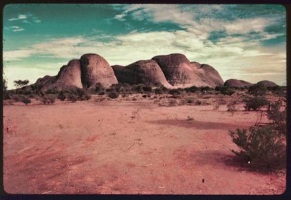 Instant Download Vintage Australian Olgas Uluru Ayers Rock Desert LandscapeDigital Download Photograph  Color Photograph Commercial Use