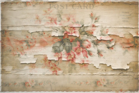 Decoupage Paper Printable Art Distressed Cottage Instant