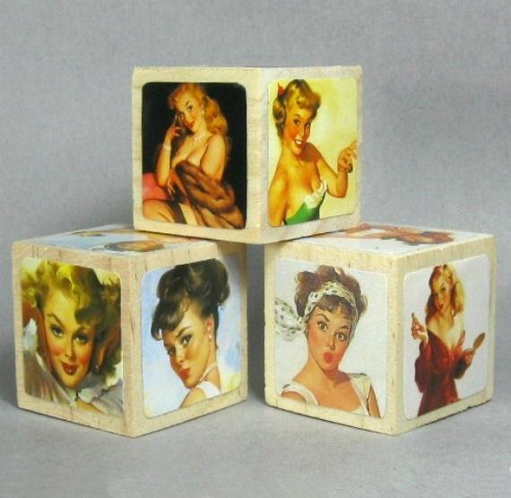 1950s PinUp Art Blocks