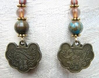 Dragon Charm Earrings