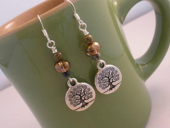 Earthy Tree of Life Earrings