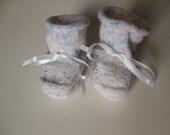 Handknit Baby Booties - Tiny Speckles