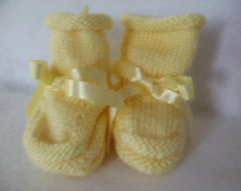 Handknit Baby Booties and Why I Made Them