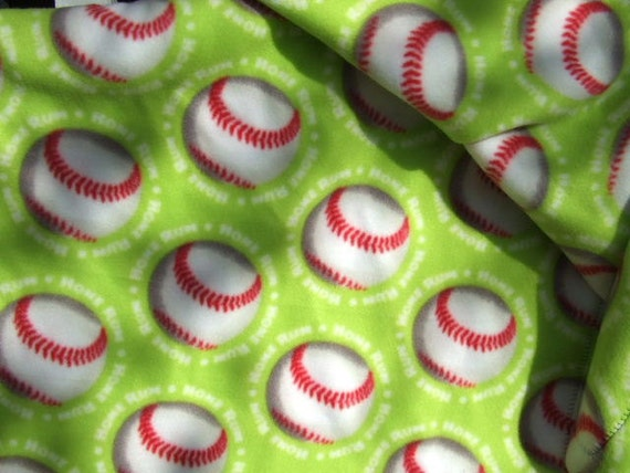 Blanket - Polarfleece  - Baseball Theme - Throw - Afghan