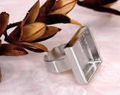 6pcs deep Trays foursquare Adjustable silver tone Blank RING Base