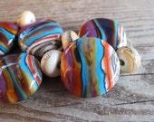 Southwest Inspired Multi-colour Handmade Lampwork Beads