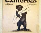 Vintage I Love You California sheet music