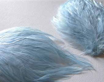 2 LIGHT BABY BLUE Feather Pad Angel Wing