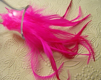 10 HOT PINK Rooster Saddle Feathers, 4 to 6 Inches Long