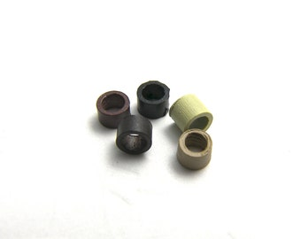 5 THREADED Micro Link Rings for Hair Feathers & Extensions