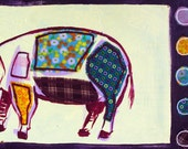 SALE: Meat pig postcard (Orig. 2.50)