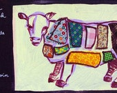 SALE: Meat cow postcard (Orig. 2.50)